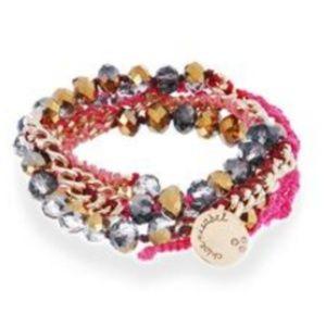 Chloe and Isabel Pink Wrap Bracelet